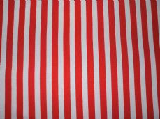 Red with White Stripe 100% Cotton Fabric